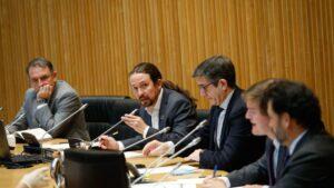 El vicepresidente segundo del Gobierno y ministro de Derechos Sociales y Agenda 2030, Pablo Iglesias, comparece ante la Comisión para la Reconstrucción Social y Económica.