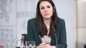 La ministra de Igualdad, Irene Montero