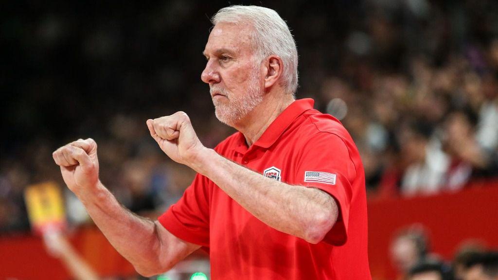 entrenador del San Antonio Spurs y seleccionador estadounidense, Gregg Popovich