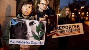 Manifestación por el asesinato de Daphne Caruana Galizia