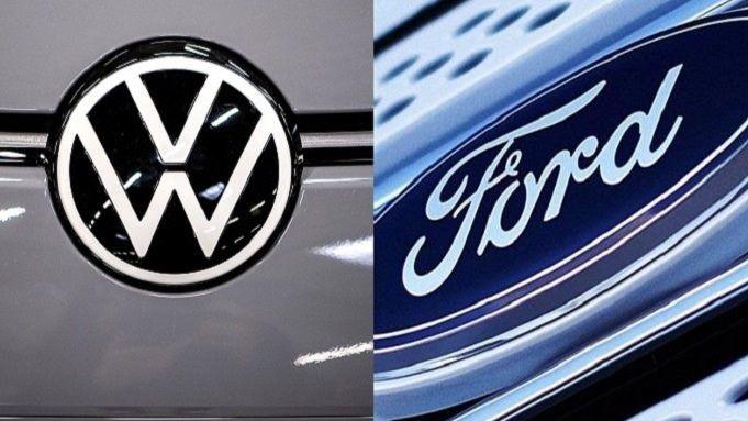 Logos de Volkswagen y de Ford.
