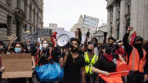 Protestas desatadas por la muerte de George Floyd en Nueva York