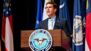 Mark Esper, secretario de Defensa de los Estados Unidos