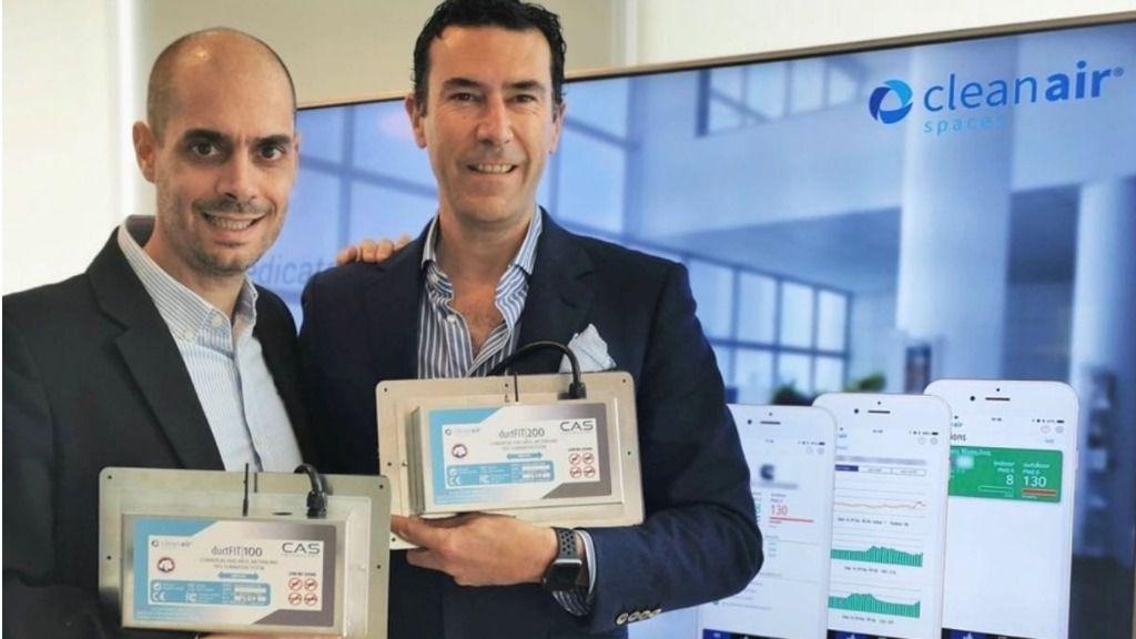 Miguel Angel Garat y Pablo Fernandez, dos emprendedores españoles afincados en Shanghai, que han creado la tecnología de purificación del are DuctFIT.