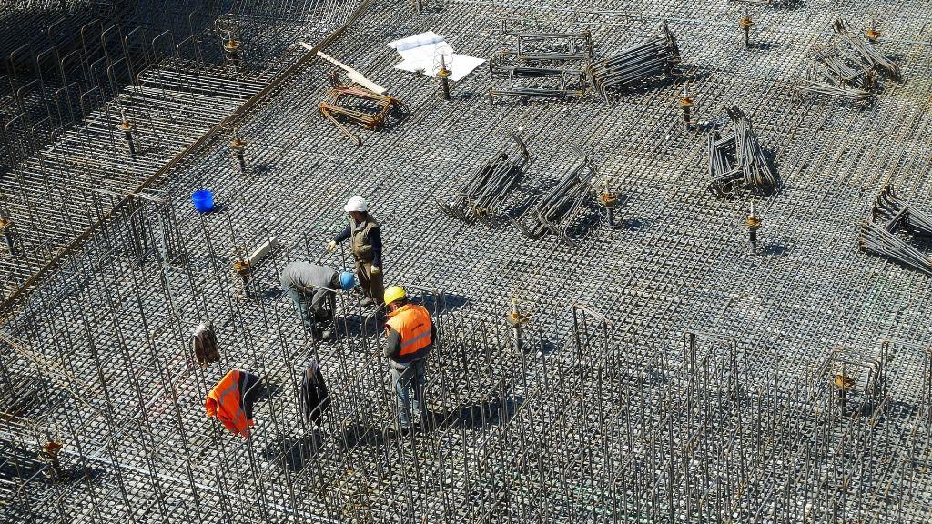 obra construccion trabajadores