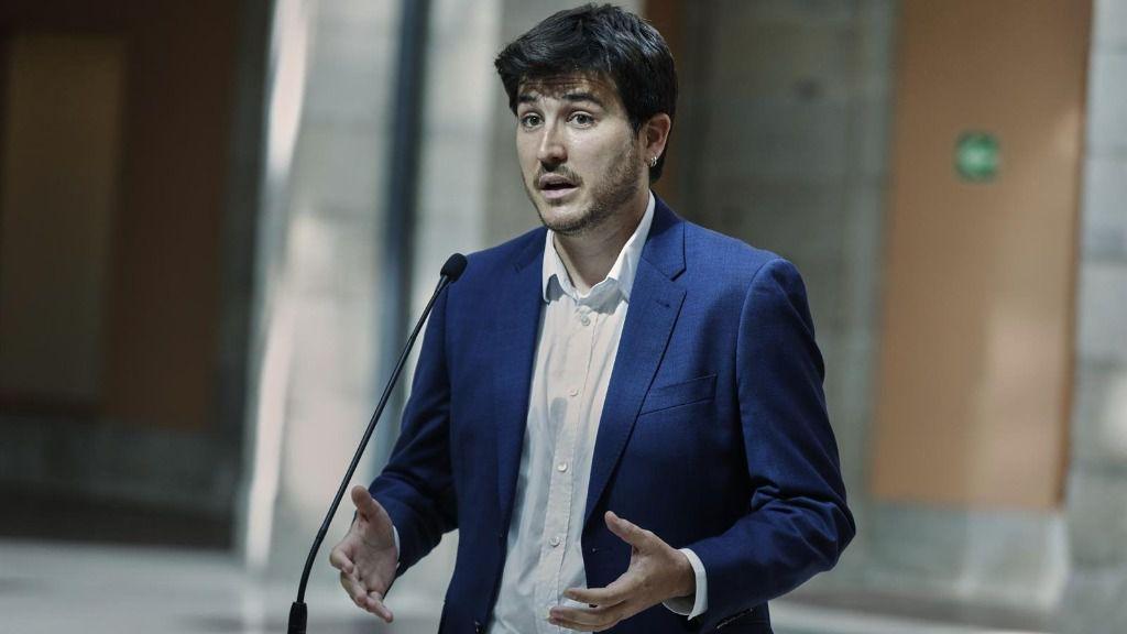 El portavoz de Más Madrid en la Asamblea de Madrid, Pablo Gómez Perpinyà