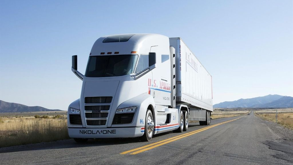 Imagen de un camión de Nikola.