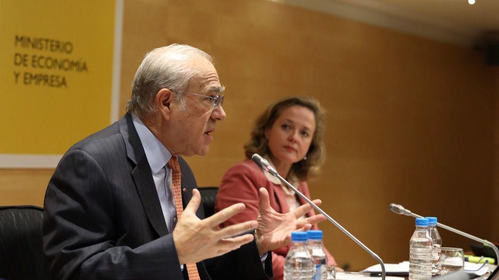 José Ángel Gurría y Nadia Calviño