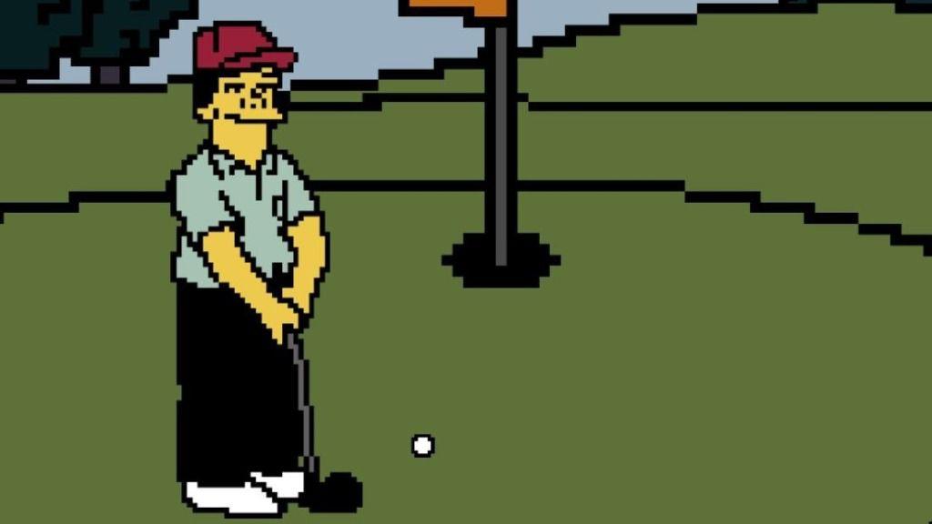 'Lee Carvallo's Putting Challenge' , El Mítico Videojuego De Golf De Los Simpson creado por el desarrollador Aaron Demeter
