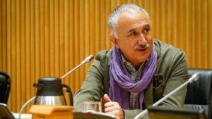 El secretario general de la Unión General de Trabajadores, Pepe Álvarez Suárez, ha comparecido ante la Comisión para la Reconstrucción Social y Económica.