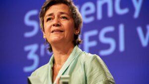 La vicepresidenta de Competencia de la Comisión Europea, Margrethe Vestager