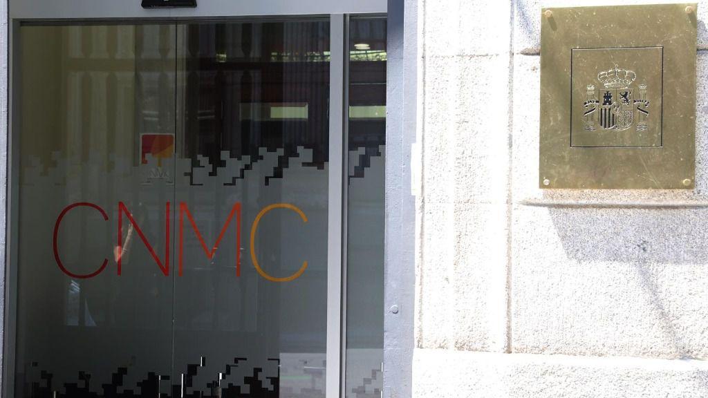 Puerta principal de la Comisión Nacional de los Mercados y la Competencia (CNMC)