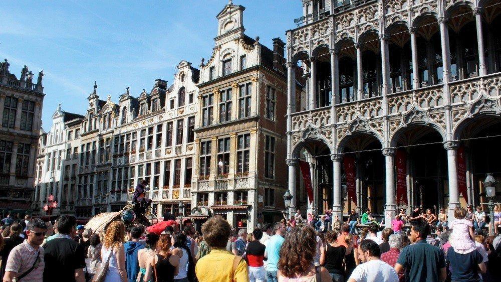 Turistas en Bruselas