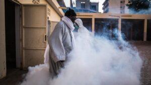Labores de desinfección en Dakar - Sadak Souici/Le Pictorium Agency