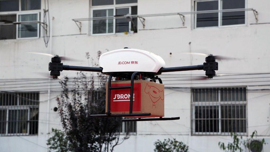Reparto de paquetes con drones de JD.com