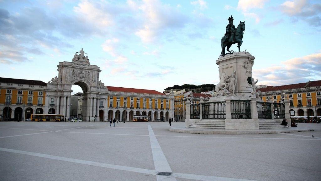 La plaza Terreiro do Paco de la capital de Portugal, Lisboa