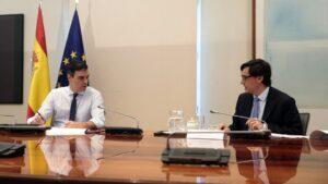 Pedro Sánchez y Salvador Illa