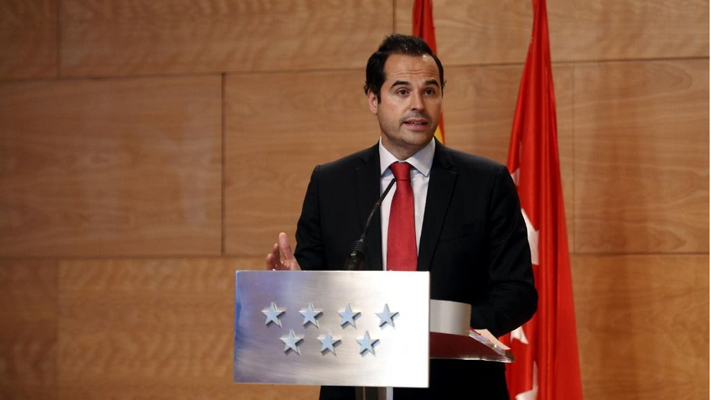 El vicepresidente de la Comunidad de Madrid, Ignacio Aguado, ofrece una rueda de prensa tras la reunión del Consejo de Gobierno de la Comunidad de Madrid para informar de los acuerdos aprobados, en la Real Casa de Correos, Madrid (España)