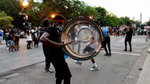 Protestas en el marco del movimiento 'Las vidas negras importan' en Washington, Estados Unidos