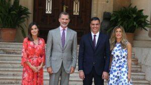 Pedro Sánchez, Begoña Gómez, Felipe VI y Letizia