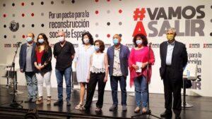 Presentación de manifiesto 'Por un pacto para la reconstrucción social de España'