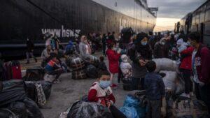 Migrantes en Lesbos refugiados