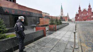 Plaza roja de Moscú rusia coronavirus