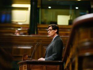 Salvador Illa, defiende ante el Pleno el Real Decreto-ley de medidas urgentes de prevención, contención y coordinación para hacer frente a la crisis sanitaria ocasionada por el COVID-19