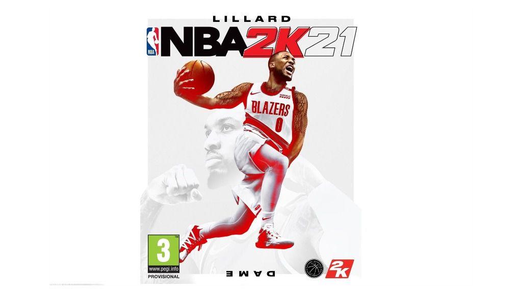 Damian Lillard en la portada de NBA 2K21