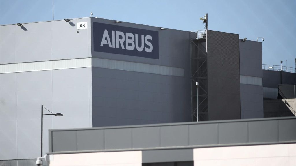 Fachada de la sede de la empresa Airbus en Getafe