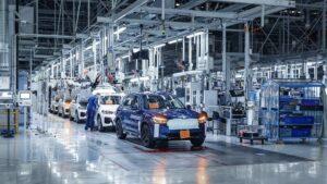 Imagen de una planta de producción de vehículos