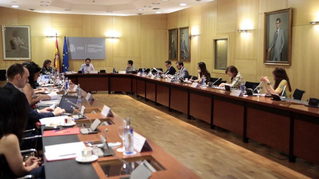 El vicepresidente segundo del Gobierno, Pablo Iglesias, preside la primera Comisión Delegada para la Agenda 2030
