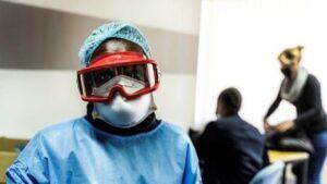 Fotografía de MSF de equipos de protección individual