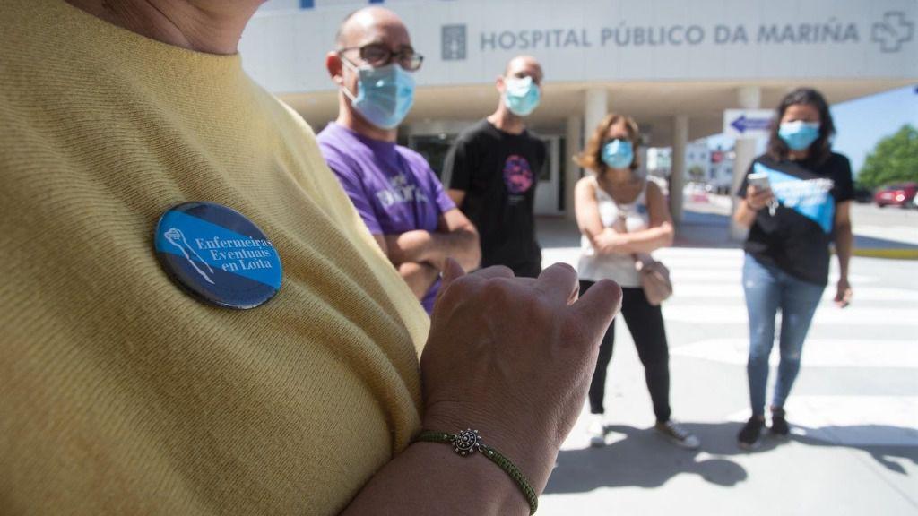 Profesionales sanitarios momentos antes de ofrecer una rueda de prensa para informar sobre la situación del brote epidémico de COVID-19