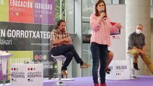 Miren Gorrotxategi y Pablo Iglesias