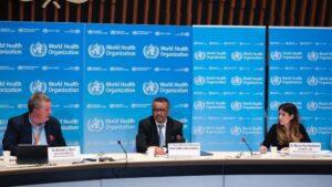 El director general de la Organización Mundial de la Salud, Tedros Adhanom Ghebreyesus, comparece en rueda de prensa para informar sobre la evolución de la pandemia de coronavirus.