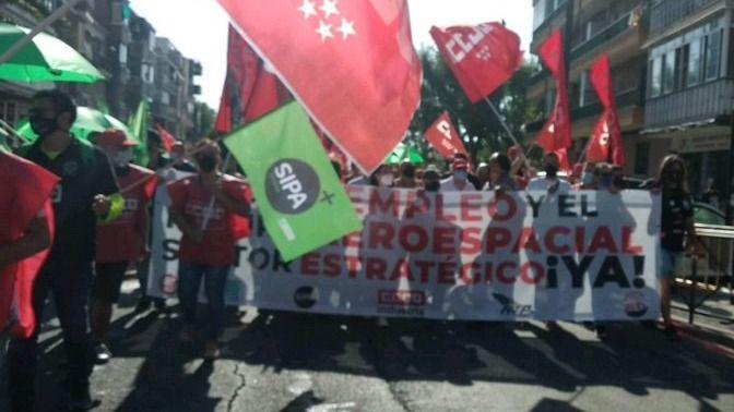 Manifestación de trabajadores de Airbus
