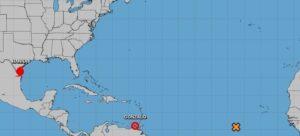 Imagen actual del huracán 'Hanna' ofrecida por el Centro Nacional de Huracanes de Estados Unidos