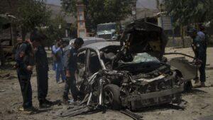 Imagen de archivo de un atentado suicida en Nangarhar