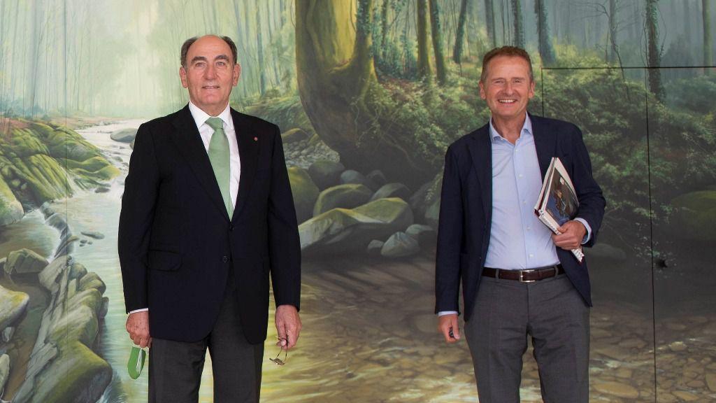 El presidente de Iberdrola y el CEO del grupo Volkswagen