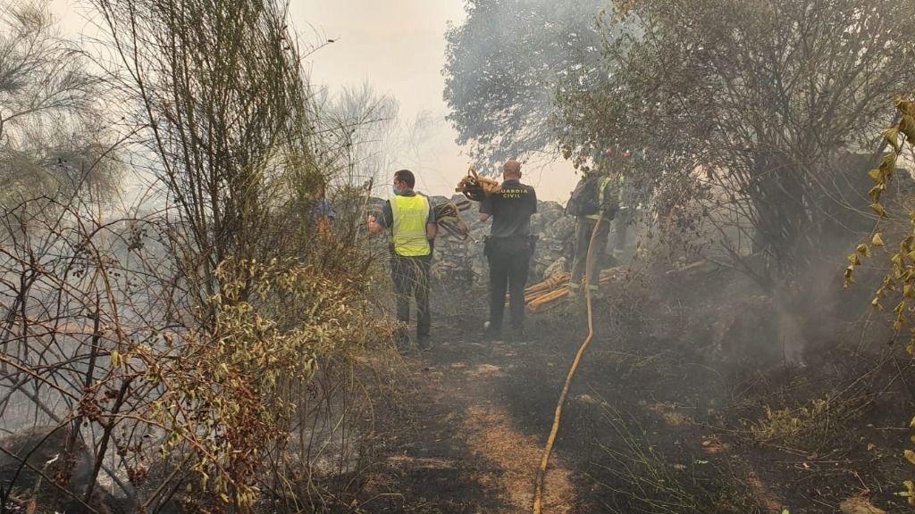 Incendio de Cualedro (Ourense)