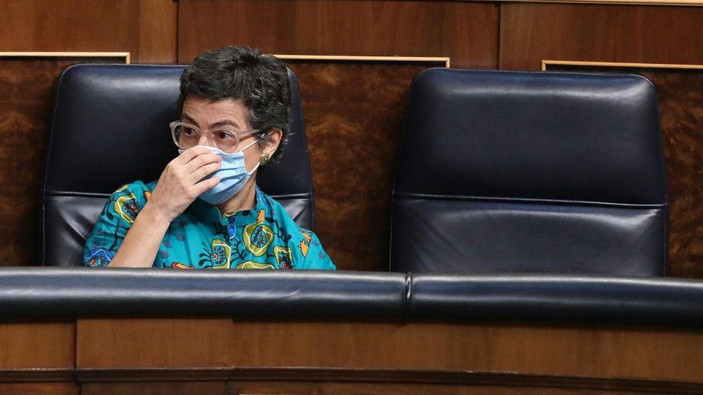 La ministra de Asuntos Exteriores, Unión Europea y Cooperación, Arancha González Laya, durante una sesión plenaria en el Congreso