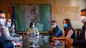 Reunión entre el Gobierno y Ciudadanos, presidida por la vicepresidenta primera, Carmen Calvo