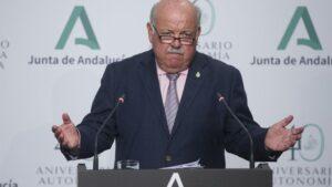 El consejero de Salud y Familias, Jesús Aguirre