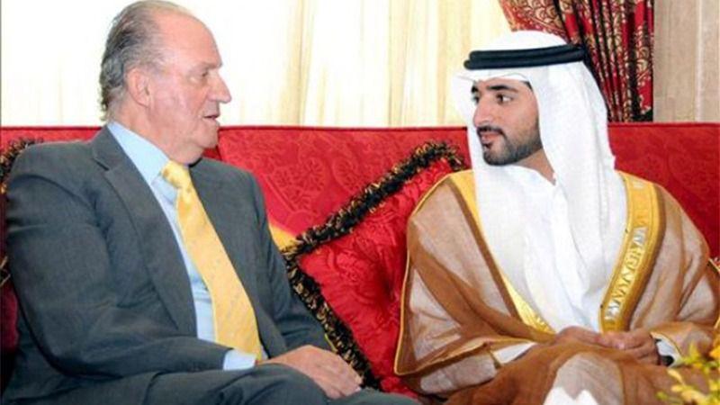 El rey Juan Carlos con Jeque Mohamed bin Rashid al Maktoum