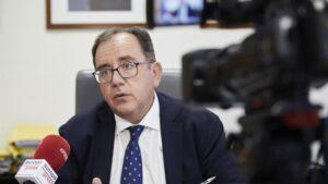 El secretario general de Instituciones Penitenciarias, Ángel Luis Ortiz, durante una entrevista para Europa Press