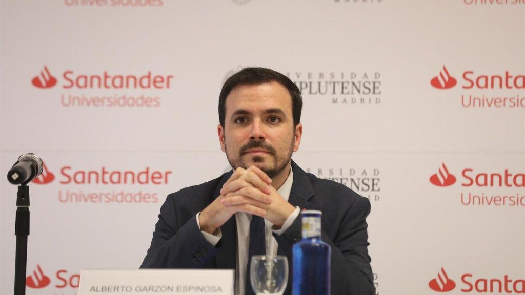 El ministro de Consumo, Alberto Garzón, durante una ponencia en los Cursos de Verano de la Universidad Complutense en San Lorenzo de El Escorial (Madrid)