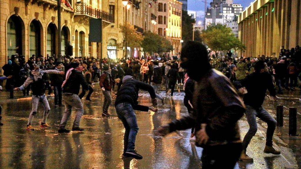 Protestas en Beirut contra la labor del Gobierno