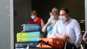 Llegadas de británicos al aeropuerto de la capital de la Costa del Sol, después de que Reino Unido imponga una cuarentena a todos los viajeros procedentes de España