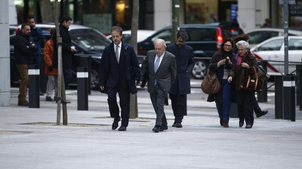 Jordi Pujol y Marta Ferrusola llegan a la Audiencia Nacional para declarar sobre el origen de su fortuna